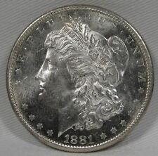 1881-S Morgan Dollar End of Roll Toning on Rev. NCH UNC Coin AD750