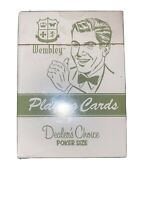 Wembley Playing Cards Dealer's Choice Poker Size Retro Vtg Style