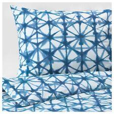 Ikea STJÄRNFLOCKA Full/Queen Duvet Cover w/2 Pillowcases Bed Set White/Blue