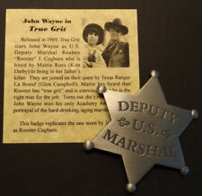 Deputy US Marshal Badge, silver, old west, John Wayne, True Grit, western