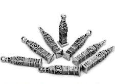 5 Pcs Tibetan Silver London Big Ben Charms Pendant Craft Beading Jewellery O172