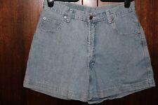 PROTOTYPES - Ladies size 14 blue denim high waist shorts.