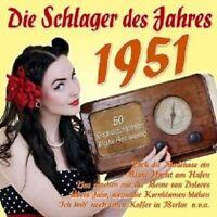 DIE SCHLAGER DES JAHRES 1951 2 CD NEU