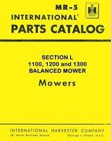 International Farmall 1100 1200 1300 Balanced Mower Parts Catalog Manual IH