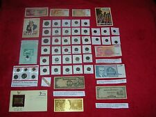 ~Huge  Coins, Currency Gold, Silver Collectibles
