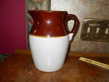 R.R.P. CO ROSEVILLE, O. USA #121 TWO TONE BROWN/BEIGE PITCHER HUGE Collectible