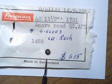 VINTAGE PIECE HORLOGERIE MONTRE AS 11-1/2 1701 ancre rond neuf de 1962