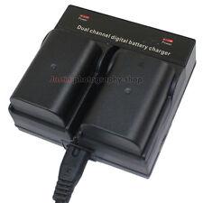 Dual Charger +2x 1860mAh Battery for Panasonic DMW-BLF19E DMC-GH3 DMC-GH4 Camera