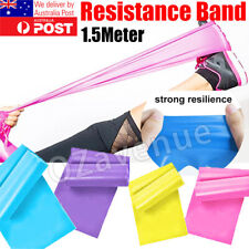 1.5m Elastic Yoga Stretch Resistance Bands Exercise Fitness Band Theraband