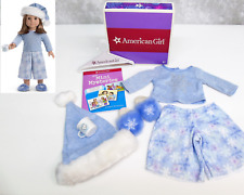 NEW American Girl Doll LET IT SNOW SLEEP SET OUTFIT Pajamas PJS Book Mug Hat BOX