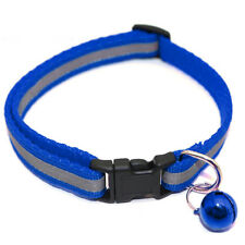 Reflective Cat Collar with Bell for Pets Cats Dogs Durable Material Collar Blue