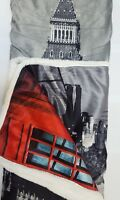 Sherpa Printed Blanket 130 x 160cm Large Warm Throw / Blanket Cosy Fleece