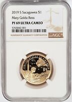 2019-S Proof Mary Golda Ross $1 Native Sacagawea NGC PF69 UC - Brown Label -