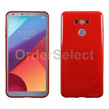 NEW HOT! Ultra Slim Protector Candy Glossy Phone Case for Android LG G6 Red