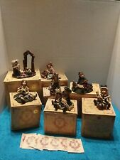 Lot Of 7 Boyds Yesterday Child Dollstone Collection Resin Figures