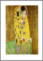 A0 A1 A2 A3 A4  poster print for glass frame Klimt Kiss Vintage Art Painting