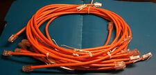 Lot Of (10) 3 Ft. Ethernet Patch Cables~Rj45 Cat 5~Helix Hi-Temp~New~Orange