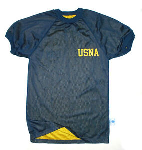 USNA Naval Academy Jersey USA Navy Midshipmen REVERSIBLE Vtg USA Mens NEW Small