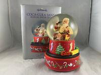 2001 HALLMARK COCA-COLA SANTA MUSICAL SNOW GLOBE MOVING TRAIN ORIGINAL BOX RARE