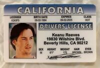 Keanu Reeves Drivers License Novelty ID Card Matrix Neo California CA