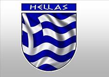 GREECE HELLAS GREEK  FLAG CREST CAR WINDOW STICKER DECAL