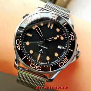 41mm bliger black dial miyota 8215 Sapphire glass NH35A automatic mens Watch