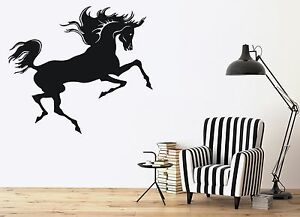 Wall Stickers Vinyl Decal Magnificent Beauty Horse Mane Tail  (n032)