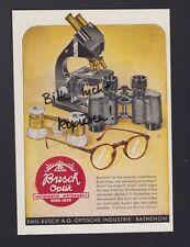 RATHENOW, Werbung 1942, Emil Busch AG Optische Industrie
