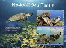 Antigua & Barbuda 2017 MNH Hawksbill Sea Turtle 4v MS II Turtles Reptiles Stamps