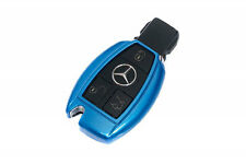 Mercedes Benz Blue Remote Key Cover Case Skin Shell Cap Fob Protection Start ABS