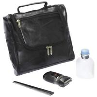 Embassy™ Italian Stone™ Design Genuine Lambskin Leather Toiletry Bag