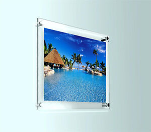 """Photo Frame Picture Wall Art Display Graphic Holder 10"""" X 8"""" Acrylic Wall Mount"""