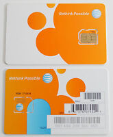 LOT OF 25 AT&T FACTORY MICRO 4G sim card sku72290/40954 SEAL NEW UNACTIVATE ATT