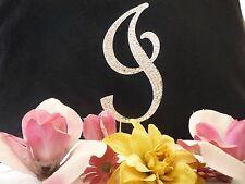 "Large Rhinestone Crystal Monogram Letter ""I"" Wedding Cake Topper 5""inch High"
