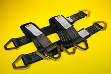 "(4) 24"" Axle Straps HD Black Tie Down f Race Car Hauler Tow Truck 4x4 Off Road"