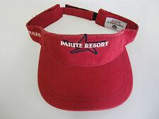 NEW Paiute Resort Golf Visor Red/Maroon  w/adjustable closure  (B492)