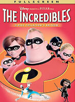 The Incredibles (Full Screen Two-Disc Collector's Edition) - DVD -Like New