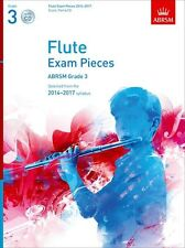 ABRSM Exam Pieces 2014-2017 Flute Piano Learn to Play Music Book & CD Grade 3