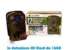 FOTOTRAPPOLA MIMETICA ACORN LTL-5210A 12MP STAGNA VISIONE NOTTURNA SD FINO 16GB
