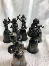 8 Vintage NE Disney Silver Character Bells