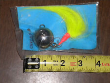 HALIBUT, LING, COD bottom bouncer cannon ball  6oz. CHARTREUSE  BUCK TAIL