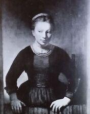 Girl at the Open Half-Door, Rembrandt, Magic Lantern Glass Art Slide