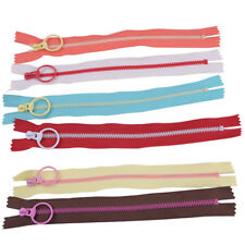 10pcs 20cm Zip Hanging Ring Puller Zipper Closed End Sewing Accessory Multicolor