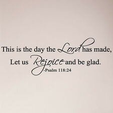 "31"" This Is the Day Lord Hath Made Let Us Rejoice Psalm 118 Wall Decal Sticker"