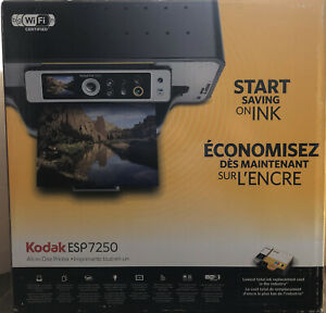 NICE! Kodak ESP 7250 Wireless WiFi All-In-One Color Photo Inkjet Printer w/ Box
