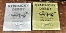 2 DIFFERENT COLORED KENTUCKY DERBY CARDBOARD MATCH HOLDERS - VINTAGE not glass