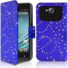 Etui Portefeuille Motif Diamant Universel S bleu pour Essential B Wooze I4.5