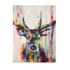 Modern 40*55CM Colourful Stag Canvas Painting Art Printed Office Home Wall Decor