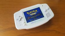 Game Boy Advance GBA  Brilliant White Themed LCD IPS  V2 Backlight Console