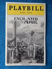 Enchanted April - Belasco Theatre Playbill w/Ticket - July 18th, 2003 - Conolly